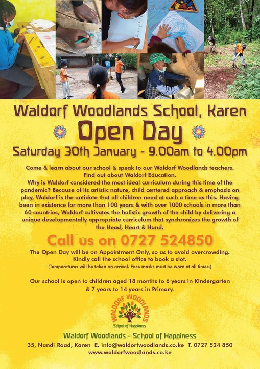 WALDORF WOODLANDS SCHOOL OPEN DAY!