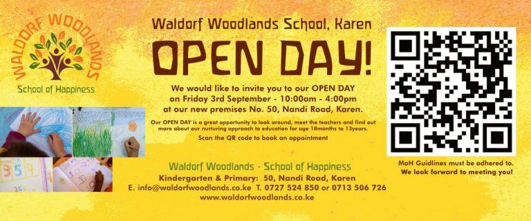 WALDORF WOODLANDS SCHOOL OPEN DAY!